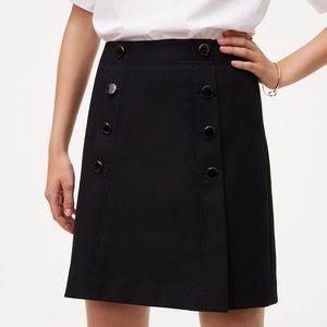 LOFT Black Sailor Skirt